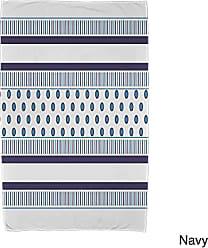 E by Design Ebydesign Comb Dot Stripe Print Beach Towel 30 x 60 Blue