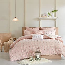 Urban Habitat Brooklyn Comforter Set Full/Queen Size - Pink, Tufted Cotton Chenille Dots - 7 Piece Bed Sets - 100% Cotton Jacquard Teen Bedding For Girls Bedroom