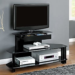 Monarch Specialties Monarch 48 in. TV Console with Tempered Glass Shelves - I 2000