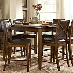 Weston Home Verona Counter Height Dining Table - Distressed Amber - 727-36