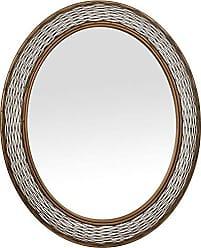 Varaluz Casa 240A02HO Flow Oval Mirror - Hammered Ore Finish