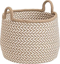 Colonial Mills Preve Basket, 18x18x17, Taupe & White