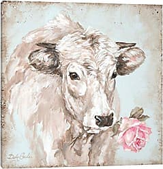 iCanvas Cow with Rose II Canvas Print by Debi Coules, 26 x 26
