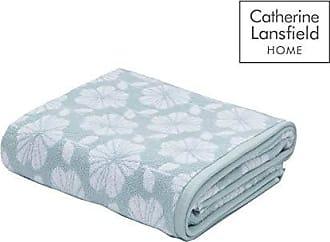 Catherine Lansfield Texturé à Rayures Serviette à main ocre jaune /& gris 100/% coton