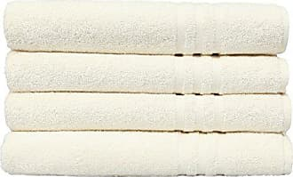 Linum Home Textiles 100% Turkish Cotton Denzi Bath Towels, Set of 4, Cream