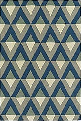 Kaleen Rugs Spaces Collection SPA06-17 Blue Hand Tufted Rug, 3 x 5