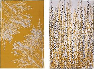 Ulster Weavers Clarissa Hulse CH Yellow Fynbos Cotton Tea Towel, 2 Pack