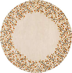 Surya Athena ATH-5118 Hand Tufted Wool Round Solids and Borders Accent Rug, 6-Feet