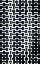 Momeni Rugs LAGUALG-02NVY3656 Laguna Collection, 100% Wool Hand Woven Flatweave Contemporary Area Rug, 36 x 56, Navy Blue