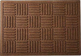 Bungalow Flooring AquaShield Large Parquet Mat, 2 x 3, Dark Brown