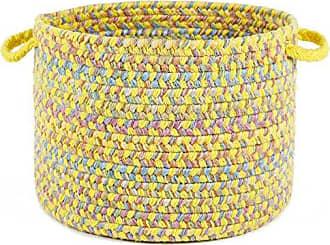 Rhody Rug Sandbox Yellow Multi 10 x 8 Basket