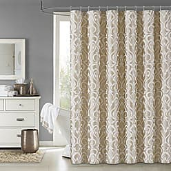 Five Queens Court Leo Woven Jacquard Shower Curtain, Gold