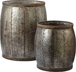 Dimond Home Fortress Drums - Set Of 2