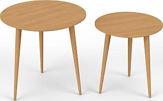 MYCS Couchtisch Eiche, Holz   Eleganter Sofatisch: Beste Qualität,  Einzigartiges Design   50