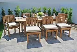 Willow Creek Designs Huntington 9 Piece Teak Patio Dining Set