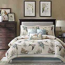 Madison Park Quincy Queen Size Bed Comforter Set Bed in A Bag - Khaki, Jacquard - 7 Pieces Bedding Sets - Ultra Soft Microfiber Bedroom Comforters