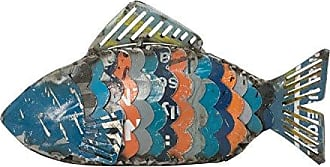 Foreside Home And Garden Foreside Home & Garden Gill Recycled Fish Figurine Blue
