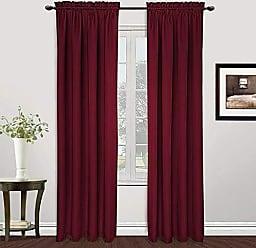 United Curtain MET108BG Metro Window Curtain Panel, 54 X 108, Burgundy,54 X 108
