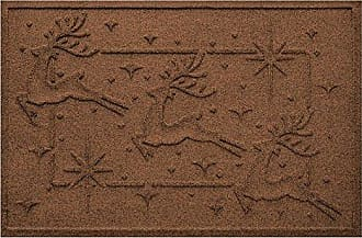 Bungalow Flooring AquaShield Reindeer Row Mat, 2 x 3, Dark Brown