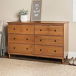 Walker Edison WE Furniture AZR6DDDRCA Dresser, 57, Caramel