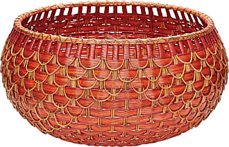 Dimond Home Large Fish Scale Basket In Red And Orange