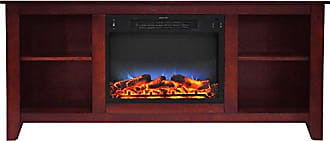Cambridge Silversmiths CAM6226-1CHRLED Santa Monica 63 In. Electric Fireplace & Entertainment Stand in Cherry w/ Multi-Color LED Insert
