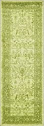 Unique Loom La Jolla Collection Tone-on-Tone Traditional Light Green Runner Rug (2 x 6)