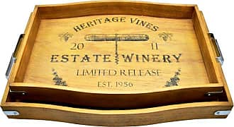 222 Fifth Heritage Vines Barrel Tray - 5092BR915A1K92