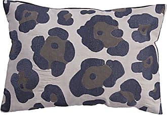 Jaipur Animal Print Pattern Gray Cotton Polly Fill Pillow, 14-Inch x 20-Inch, Dawn Blue NG-6