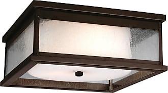 Feiss Pediment 2 - Light Outdoor Flush in Dark Aged Copper