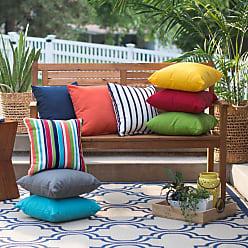 Belham Living Surfside 16 in. Sunbrella Outdoor Pillows - Set of 2 Carousel Confetti Stripe - HNPS5925