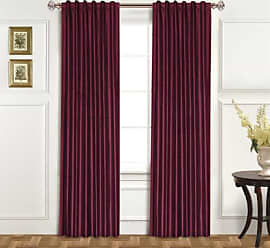 United Curtain 100-Percent Dupioni Silk Window Curtain Panel, 42 by 108-Inch, Burgundy