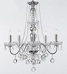 Harrison Lane J2-1134 5 Light 22-1/2 Wide Crystal Chandelier Chrome
