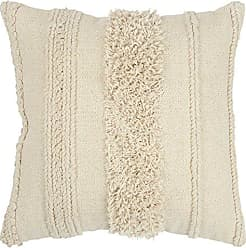 Rizzy Home Pillow Collection Decorative Pillow with A Zipper Clsoure, 20 x 20, Natural