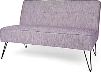 Christopher Knight Home 307651 Simona Modern Fabric Settee with Hair Pin Legs, Purple, Texture