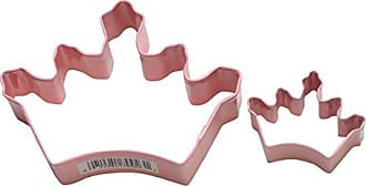 CybrTrayd 000RM-1062/P-1692/P R&M Parent/Child Cookie Cutter Set, 5-Inch and 1 to 1.5-Inch, Crown, Pink