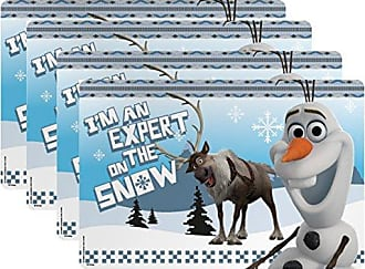 Zak designs Disney Frozen Kids Placemat, Set of 4, Olaf & Sven