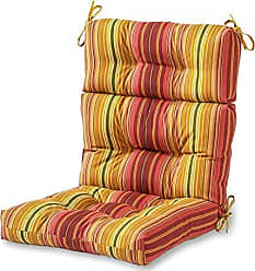 Greendale Home Fashions Indoor/Outdoor High Back Chair Cushion, Kinnabari Stripe