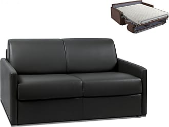 9d889520b59 Vente-Unique Canapé 2 places convertible express en simili CALIFE - Noir -  Couchage 120