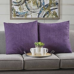Christopher Knight Home 301621 Soyala Soft Plush Fabric Throw Pillows (Set of 2) (Muted Purple)