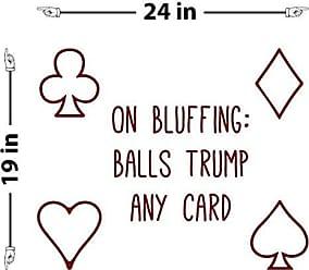 The Decal Guru Bluffing Takes Balls Wall Decal (Burgundy, 19 (H) X 24 (W))