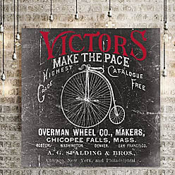 WEXFORD HOME Antique Bicycle I Gallery Wrapped Canvas Wall Art, 32x32