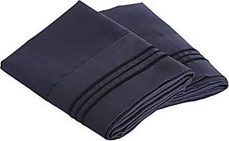 Furinno Angeland Vienne Microfiber Pillowcase Set, Navy Blue