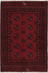 Nain Trading Oriental Afghan Akhche Rug 410x34 Dark Brown/Purple (Wool, Afghanistan, Hand-Knotted)