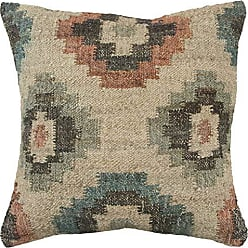Rizzy Home T13970 Decorative Throw Pillow Cover 20 x 20 Rust / Green