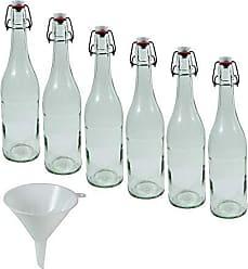 Viva Haushaltswaren 324 ml Aspecto aristado Embudo Lote de 10 tarros de Cristal para Mermelada