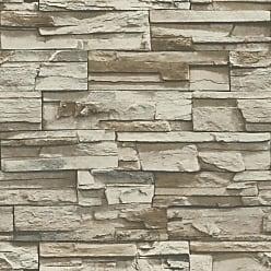 RoomMates Stacked Stone Peel and Stick Wallpaper Natural - RMK9026WP