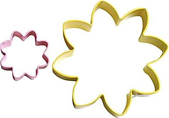 CybrTrayd 000RM-1303/Y-1503/P R&M Parent/Child Cookie Cutter Set, 3.5-Inch and 1 to 1.5-Inch, Daisy, Yellow