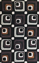 Kas Rugs Kas Rugs 2115 Milan Squares Round Area Rug, 5-Feet 6-Inch, Charcoal