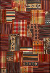 Nain Trading Oriental Kilim Patchwork Rug 67x45 Brown/Orange (Wool, Iran/Persia, Hand-Knotted)